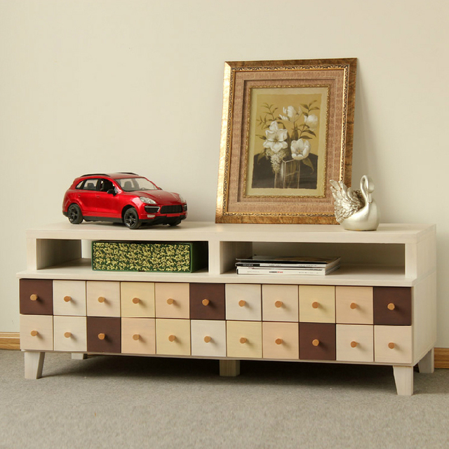 Solid Wood Drawers For Sitting Room Bedroom Tv Stand Environmental