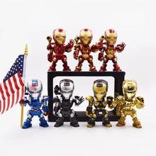 Infinity War Iron Man Tony Stark Q Version Robert Downey Jr Captain America PVC Action Figure Super Hero Collectible Model Toy цена