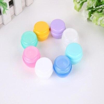1000pcs/lot 5G 10G 20G Cream Jar Cosmetic Container Empty Eyeshadow Makeup Face Cream Lip Balm Pot Beauty Refillable Bottles