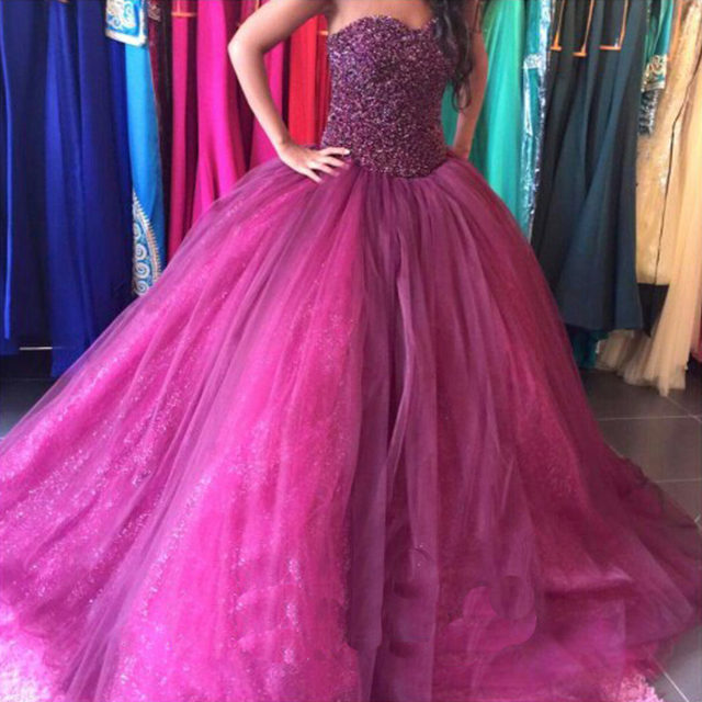 Online Shop Velvet Beautiful Long Purple Ball Gown Prom Dresses 2015 ...