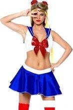 Сейлор Мун костюм Для женщин Хэллоуин Необычные платья партии Карнавал Сексуальные Косплэй Лидер продаж наряды 80776