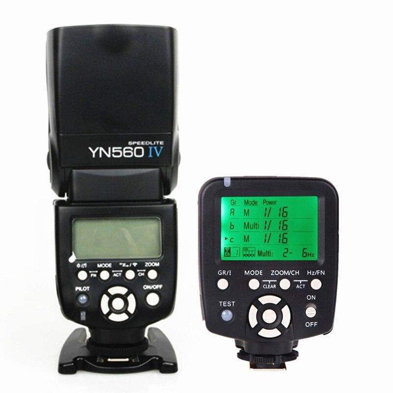 YN560-TX Yongnuo contrôleur de Flash sans fil pour Nikon DSLR + YN-560IV 2.4G Radio Flashgun Speedlite Speedlight ensemble professionnel