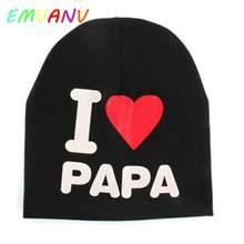 Children Baby Kids Hat Infant Cotton Soft New Beanies Cap Toddler Boys Girls  I love Mom And Dad Cap Pattren cute Hat winter fall 27a20d01765b