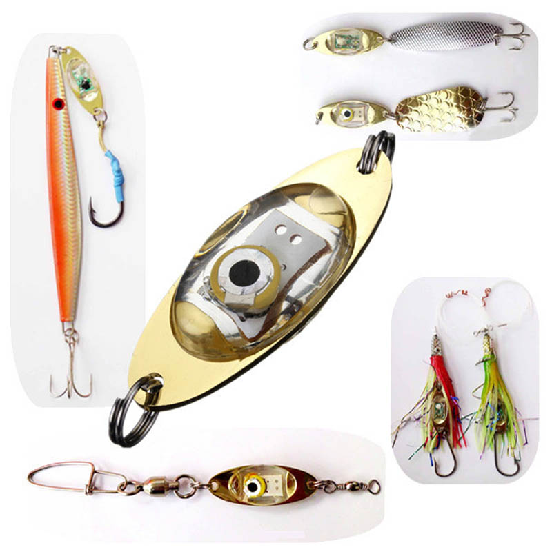 FZCSPEED LED Fish Baits Deep Drop Underwater Eye Shape Fishing Bait Squid Fish Lures Light Flash Lamp 6cm LED Light Fishing Lure