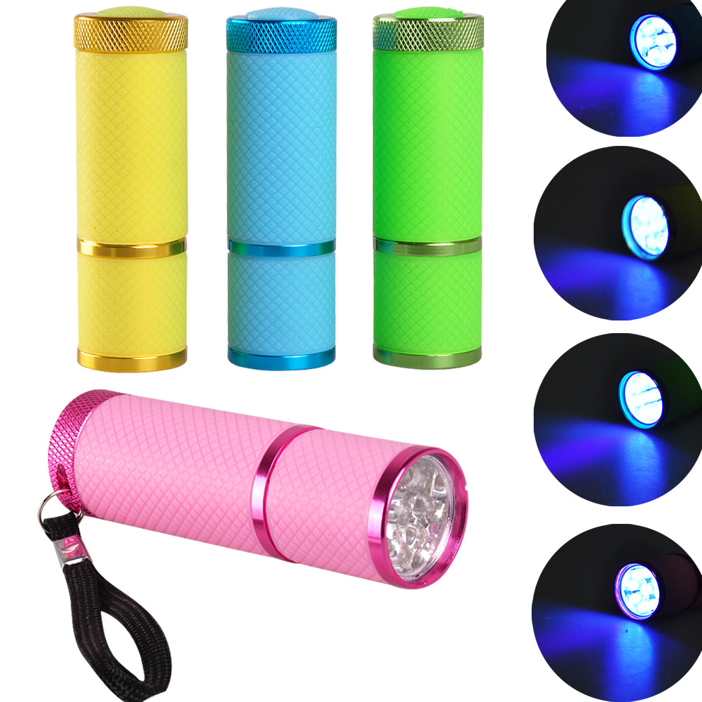 KARRONG 9LED Portable Mini Manicure Flashlight UV Ultraviolet Light Flashlamp Fast Dry Manicure Nail Drying Dropshiping image