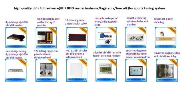 860-960mhz USB UHF RFID Reader/Writer + free English SDK+timing system  timing chip dogbone rfid inlay sample