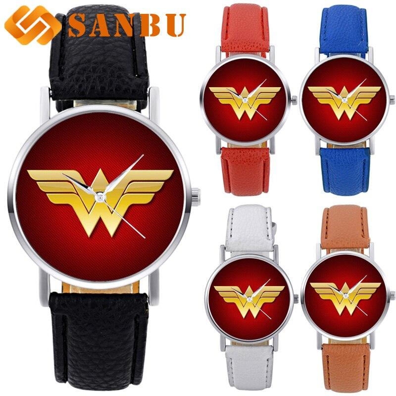 Black Leather Quartz Wristwatch