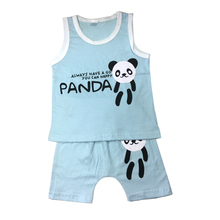 2017 Summer Boys Girls Clothing Sets Tank Top + Shorts Sleeveless Childrens Boy Clothes Set Kids Clothes Vest3-8T
