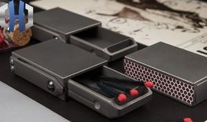 Image 5 - Creative Portable Compact EDC Titanium Alloy Draw Matchbox Outdoor Tactical Storage Box