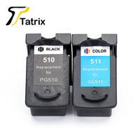 Tatrix 2PK For Canon PG510 CL511 Printer Ink Cartridge PG 510 CL 511 For Pixma MP240 MP250 MP260 MP270 MP280 MP480 MP490 IP2700