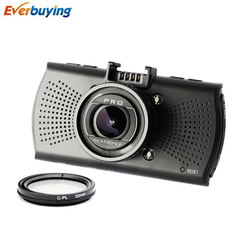 TOP Ambarella A12 Car DVR font b Camera b font FHD 2560 1440P GPS Logger Video