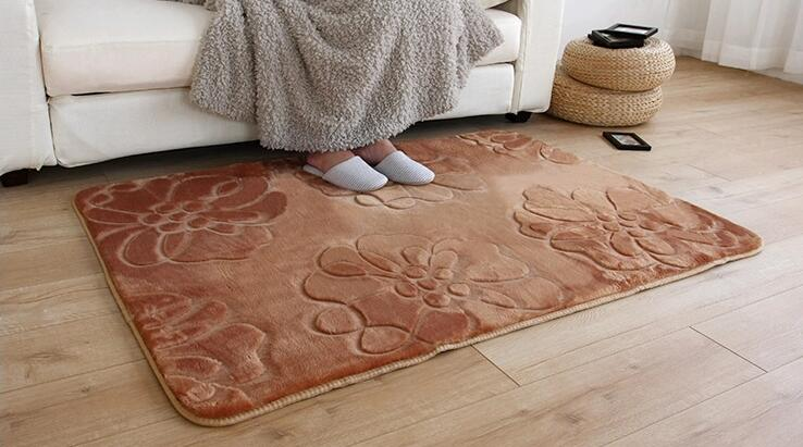 Hot Sale Living Room Carpet Stereo Cut Flowers Bedroom Rugs Entrance Carpet  Kitchen Bathroom Pads Door