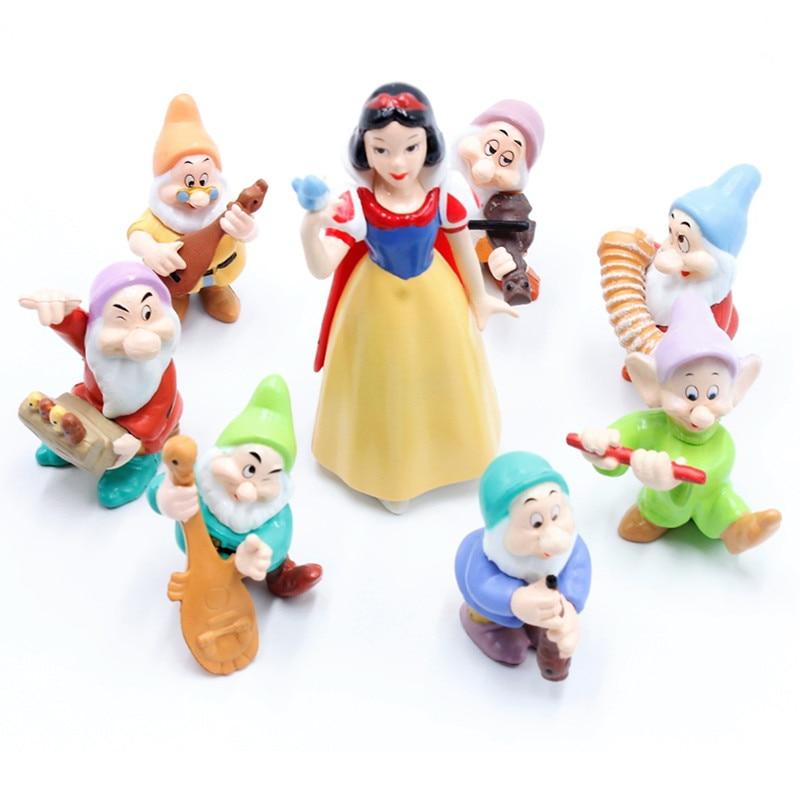 Disney Kid Toys 8 Pcs Set 5 10cm Snow White And The Seven