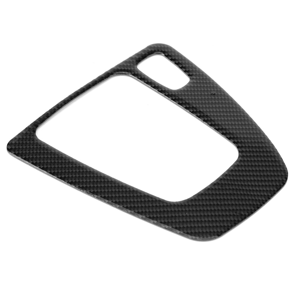 <font><b>Carbon</b></font> <font><b>Fiber</b></font> Gear Shift Panel Decorative Trim for <font><b>BMW</b></font> <font><b>E90</b></font> E92 E93 2005-2012 Right Hand Driver UV-Protected and Weather Proof image