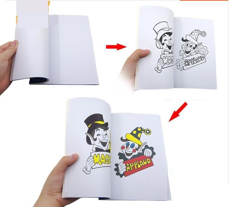 A Fun Magic Coloring Book - Medium Size (20.5cm*13.5cm*0.7cm) Magic Tricks Best For Kids Gimmick Mentalism Stage Funny