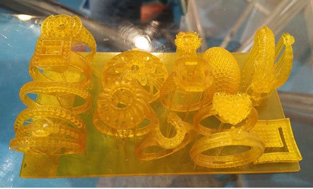 Ювелирные изделия зубные 3d принтер ЖК УФ-отверждаемый STL molde печатная машина для воска потерянного литья