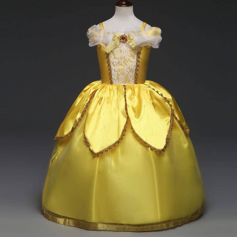 Girls  Beauty and the Beast Belle Light-up Fancy Dress Costume Kids 3-10
