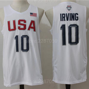 29f18747137 Ediwallen USA Basketball Jerseys Dream Twelve Team Irving Jersey