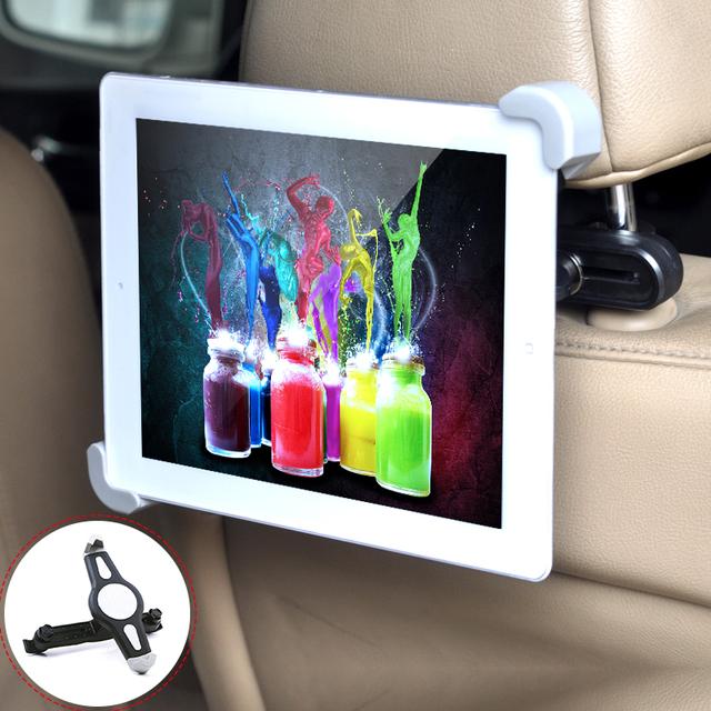 Floveme quente assento de carro de volta encosto de cabeça montar titular para ipad 2/3/4 air 5 ar 6 ipad mini 1 2 3 air tablet samsung tablet pc stands