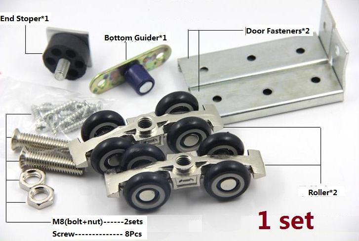 Superior 2Sets/LOT 60Kg Top Hung Rollers Roller Wooden Track Sliding Door Closet  Double Wheels Ball