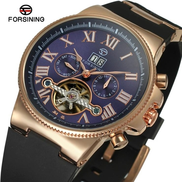 FORSINING Mens Luxury Brand Automatic Mechanical Watches Fashion Casual Sports Waterproof Wristwatch with Date and Week DisplayFORSINING Mens Luxury Brand Automatic Mechanical Watches Fashion Casual Sports Waterproof Wristwatch with Date and Week Display