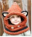 Retail Autumn Winter Fox Animal Baby Hats Skullies Kids Girls Boys Warm Woolen Knitted Coif Hood Scarf Beanies Caps