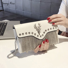 Tonny Kizz party evening evening clutch bags for women clutches envelope lady shoulder bags with diamonds and tassel messenger 2018evening bags and clutches for women with rhinestone for wedding and party messenger bag with chain