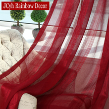White Voile Sheer Curtains For Living Room Tulle Bedroom Linen Curtain Kitchen Window Cortinas Drapes