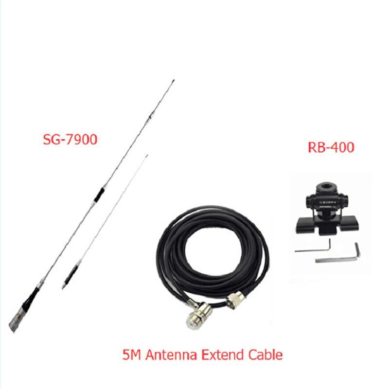 Mobile radio antenne SG7900 + Antenne Mont + 5 MÈTRES CÂBLE U/V Bibande 144/430 Mhz DIAMANT mâle connecteur 150 W émetteur-récepteur antenne