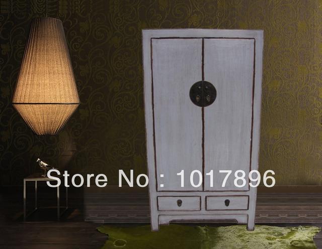 Chino clásico muebles viejo vintage antiguo blanco gris armario de ...