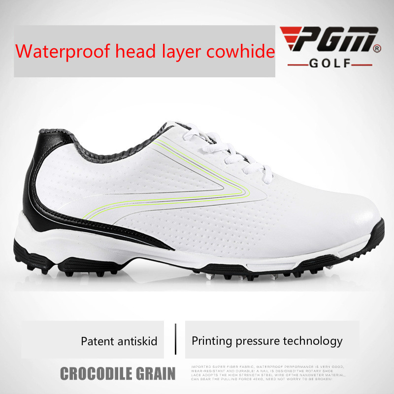 2018 PGM Golf Shoes Men Golf Sneaker Waterproof Breathable Sneakers For Men Proffessional Golf Trainer Sneakers pgm men golf shoes genuine leather breathable ultra light brown waterproof sneakers sport golf shoes mens zapatos charol hombre