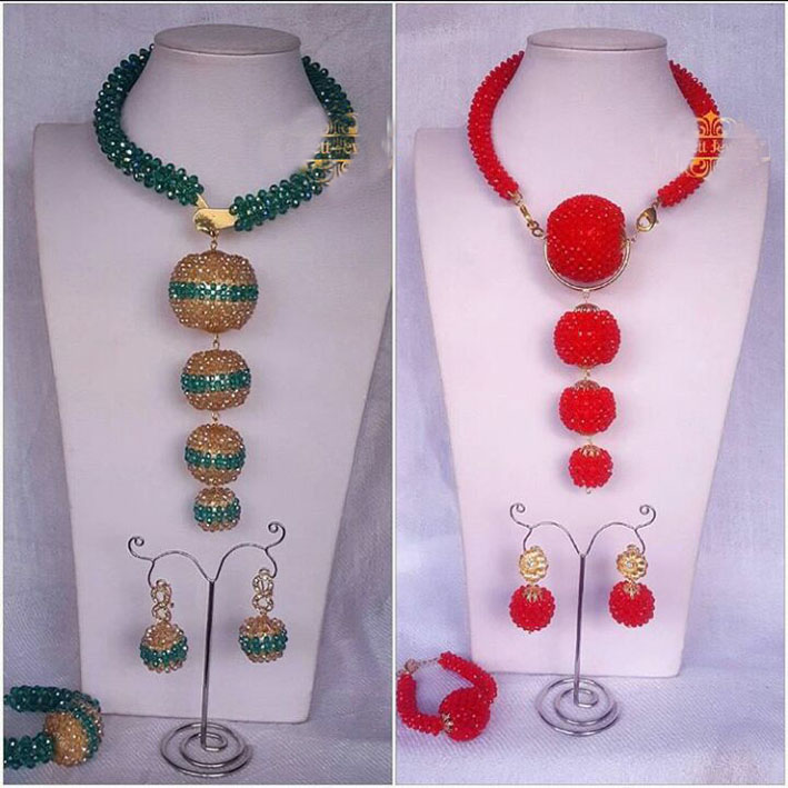 2018 Classic Teal Green Gold Wedding Statement Necklace Set African Nigerian Beads Bridal Jewelry Set Women Party Gift QW1352018 Classic Teal Green Gold Wedding Statement Necklace Set African Nigerian Beads Bridal Jewelry Set Women Party Gift QW135