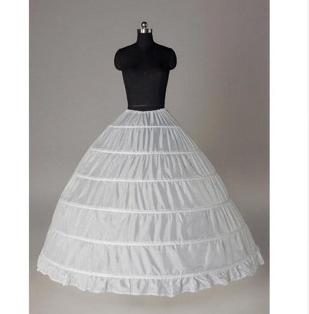 Nuevos Accesorios de La Boda Del Borde Del Cordón de 6 Aro Enaguas Para el vestido de Bola de La Boda Vestido de Crinolina