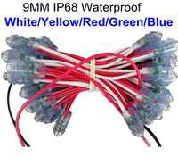 Led広告レターチェーンランプ/ledピクセルモジュール光、シングルカラー、直径9ミリメートル、dip led、防水、dc5v、500ピース/ロット