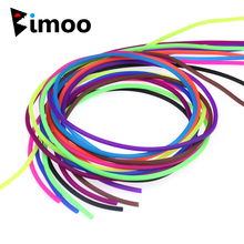 Bimoo 48m/Spool Elastic Thin Film Silicone Rigs Tube Sleeve for Scud Shrimp Nymph Fly Skin Fishing Sabiki Fly Tying Material