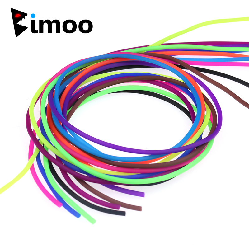 Bimoo 48m/Spool Elastic Thin Film Silicone Rigs Tube Sleeve for Scud Shrimp Nymph Fly Skin Fishing Sabiki Fly Tying Material