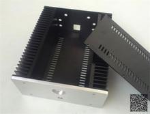 WANBO Audio 2612 AMP Versiom Full aluminum small Class A amplifier audio box good radiating power amp case 260 x 120 x 311 (mm)