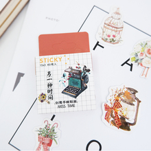45pcs/box Creative kawaii Boxed DIY stickers decoration diary posted album scrapbooking decorations sealing stationery
