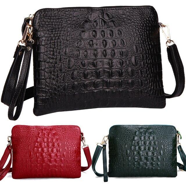 Crocodile Clutch Messenger Bags Handbags Women Famous Brands Genuine Leather Solid Shoulder/Crossbody Bag Female Bolsa Feminina