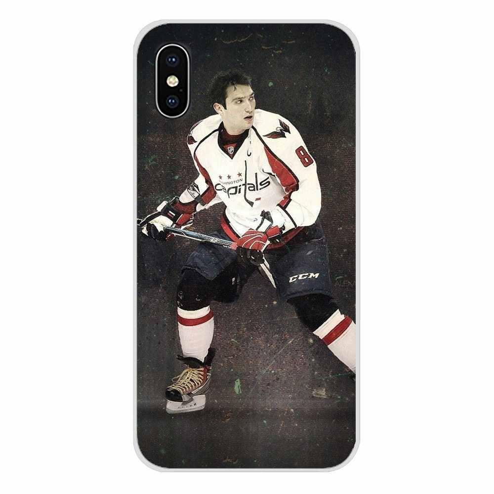 สำหรับ Apple iPhone X XR XS MAX 4 4 S 5 S 5C SE 6 6 S 7 8 plus ipod touch 5 6 ซิลิโคน Alexander Ovechkin Nhl Star Hockey