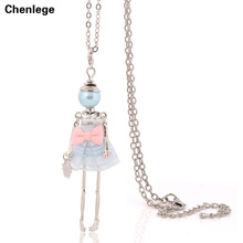 new design big choker fashion pendants necklaces long chain jewelry cute bowknot dress women