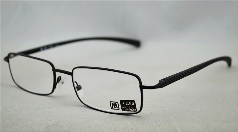 Unisex Black Spring Hinge Readers Full Frame Slim Metal Reading Glasses Diopter +1.00-+2.50 Free Shipping