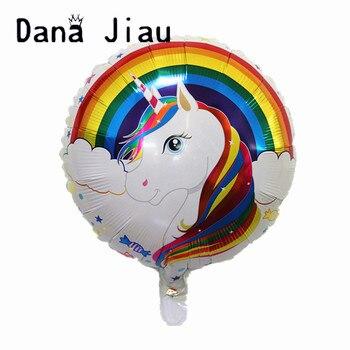 18inch rainbow unicorn Aluminum foil Balloon Birthday Party Decorations kids toy Supplies Wedding Baby Shower balloons