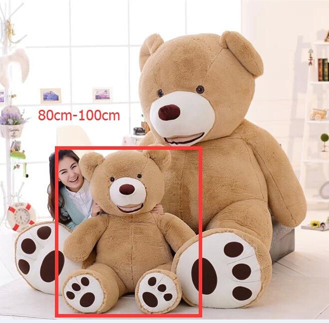 Niuniu Daddy 100cm עור דובי ענק רוקן דובי דובי מתנה סיטוני עבור ילדה יום הולדת חג המולד עורות דוב untuffed