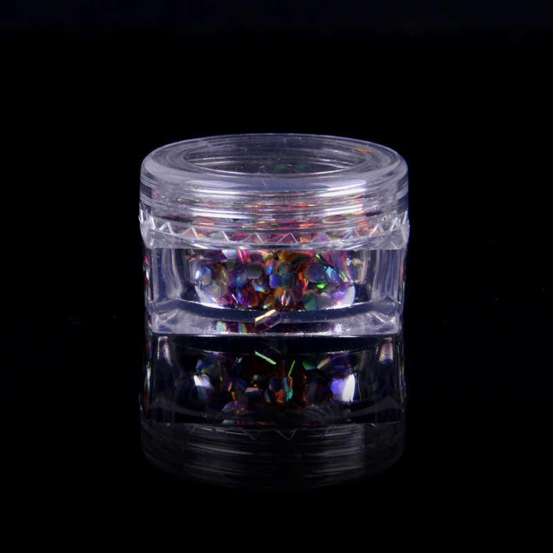 Cores misturadas Sereia Lantejoulas Glitters Resistentes a Solventes Camaleão Prego Brilho Lantejoulas Prego Paillettes Prego Glitters Faísca