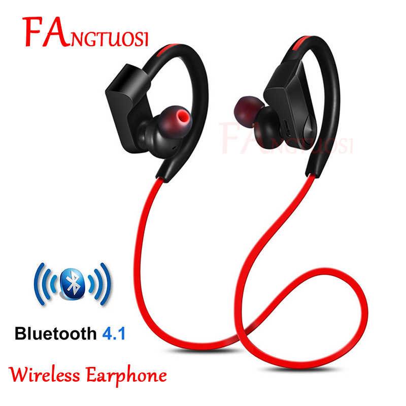 FANGTUOSI K98 Bluetooth bezprzewodowe słuchawki sportowe do biegania Stereo zestaw słuchawkowy z mikrofonem zaczep na ucho słuchawki do iPhone'a XR samsung Huawei