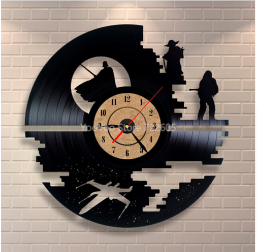 Novelty 3D Star Wars Wall Clock For Home Decoration