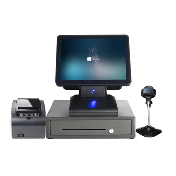 Hot Selling Black Color A Full Set Of 15 Inch Sigle POS Commercial POS Terminal Single Touch With Accessories