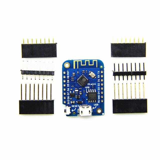 Wemos D1 Mini V3.0.0 WIFI Internet der Dinge Entwicklung Basis ESP8266 CH340 CH340G 4 MB Für Arduino Nodemcu V2 MicroPython