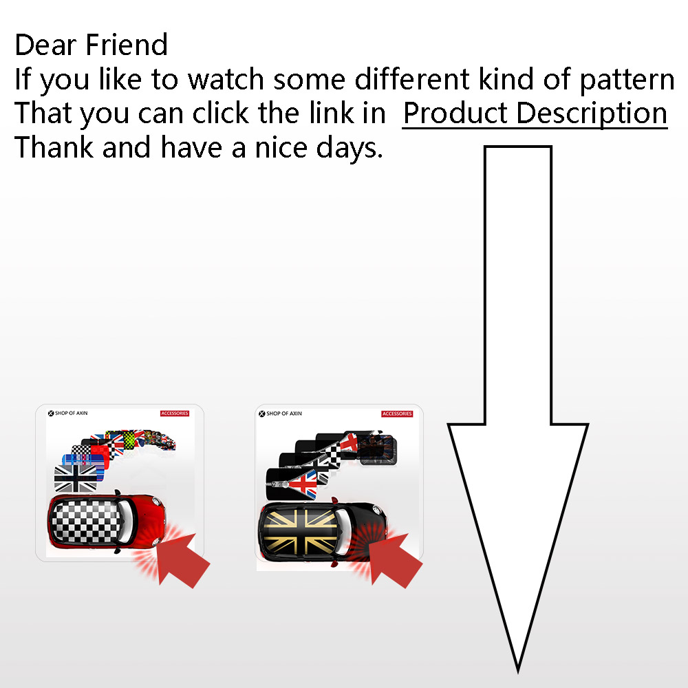 Autocollants graphiques MINI style toit ouvrant pour MINI Cooper clubman countryman hardtop R50 R53 R55 R56 R60 R61 F54 F55 F56 F60 - 6